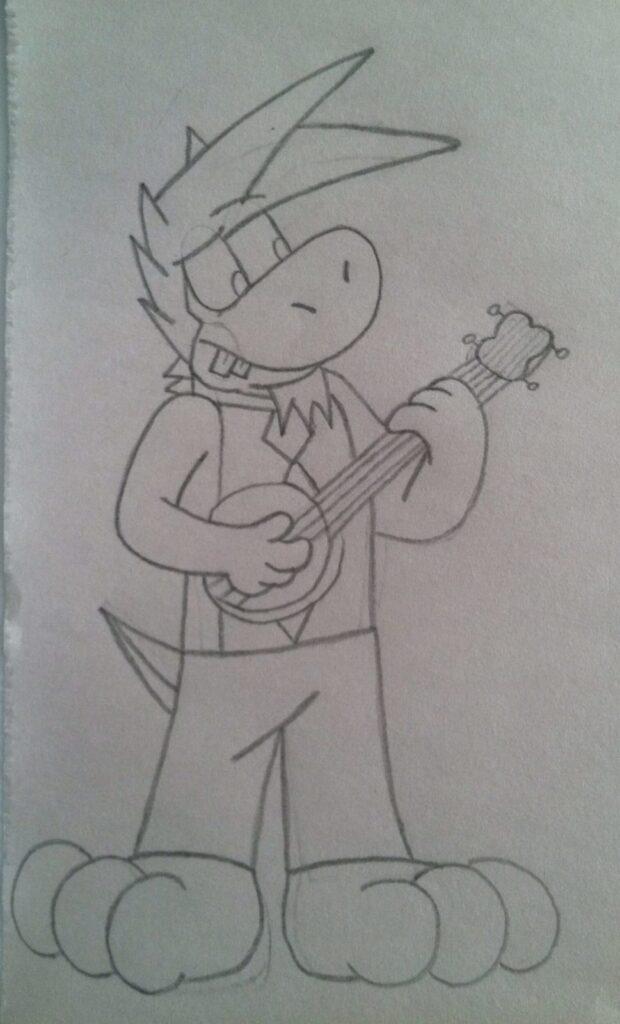 Yash playing banjo