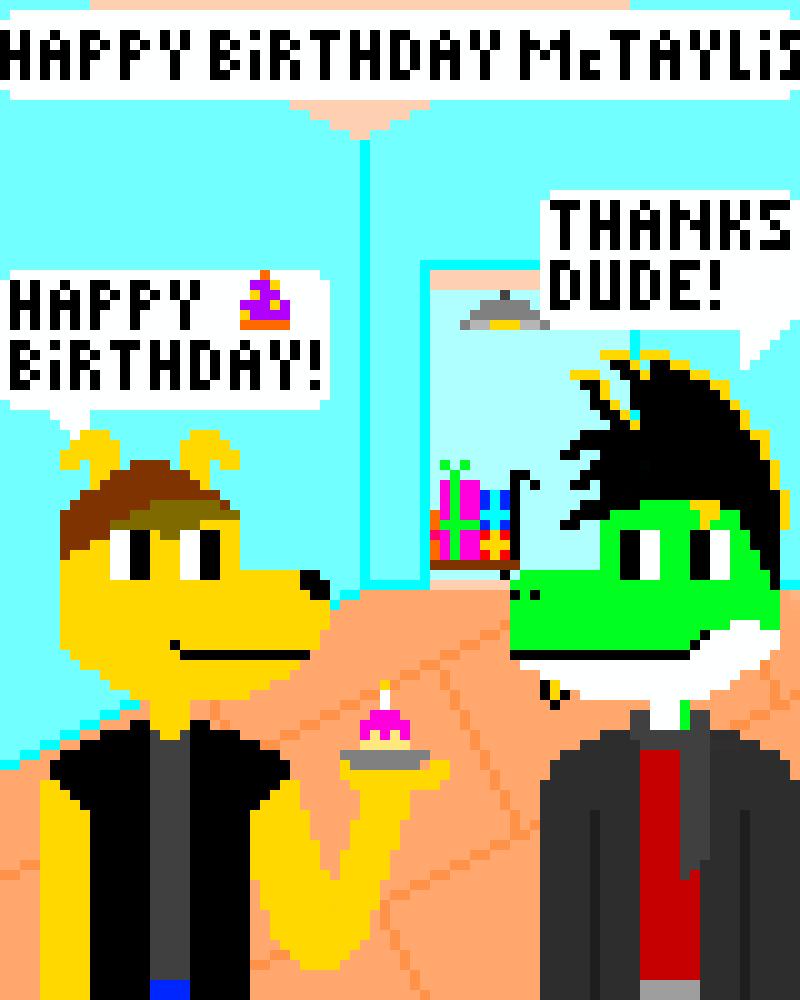 Pixelated Birthday