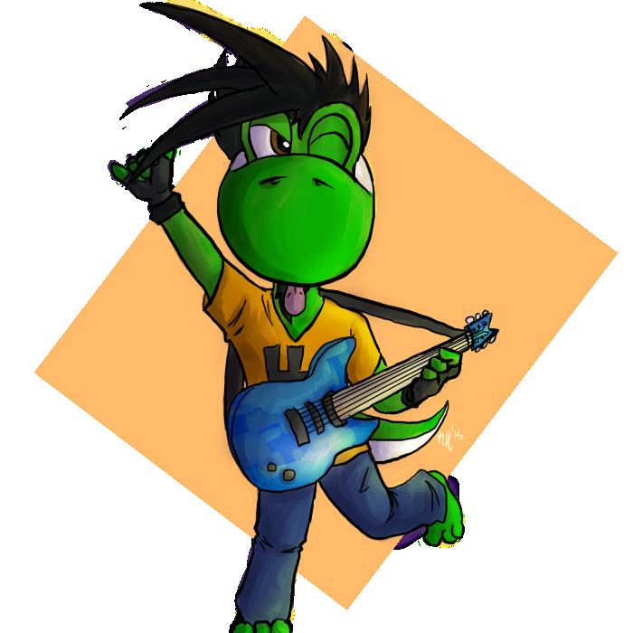 Chibi Metalhead Yoshi