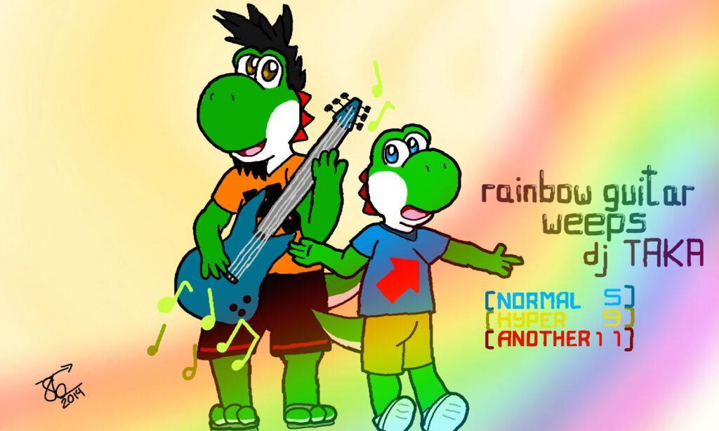 Rainbow guitar weeps