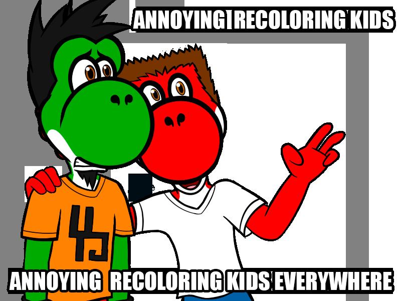 Annoying recoloring kids